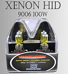 9006 HB4 12V 100W Direct Replacement for Auto Vehicle Factory Halogen Light Bulbs [Color: Yellow] w/ Mbox by ICBEAMER