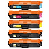 CMCMCM 5PK Compatible Toner Cartridges Replacements Brother TN221 TN225 Work Brother HL3170CDW MFC9330CDW HL3140CW HL3180CDW MFC9130CW MFC9340CDW Printer