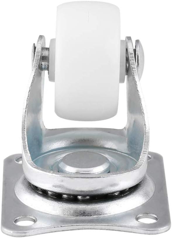 Vobor roulettes pivotantes Roues universelles Blanches 1 pour Table de Chaise avec Chariot pour Meubles