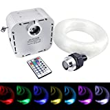 32W Led Star Lights Fiber Optic Ceiling Kit, RGB Twinkle Engine Driver with RF 28 Key Remote Control + Crystal + Optical Fiber Cable 0.03in/0.75mm 13.1ft/4m 800pcs