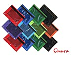Omura 3 Ring Pencil Pouch with Mesh Window, 12 pcs