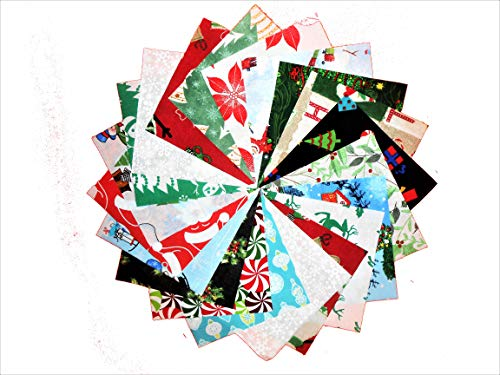 "80 5"" Beautiful Christmas MEDLEY # 2 Charm Pack DIFFERENT PRINTS OF EACH -"