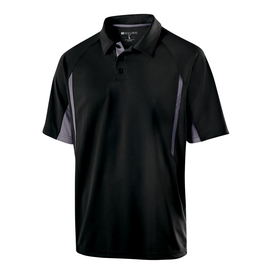 Holloway Dry Excel Avenger Polo (Small, Black/Graphite)