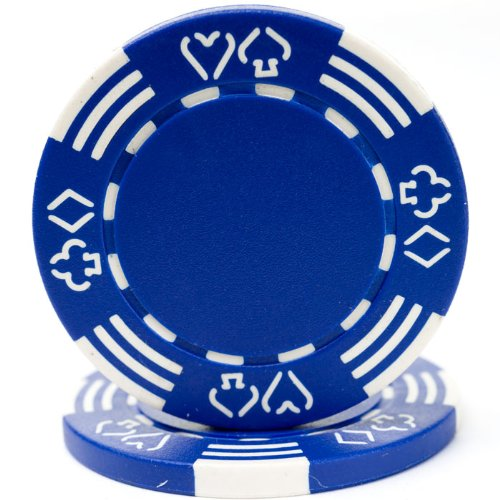 Trademark Poker Royal Suited Casino 50 Poker Chips, 11.5gm, Blue (Suited Royal Chips 11.5g)