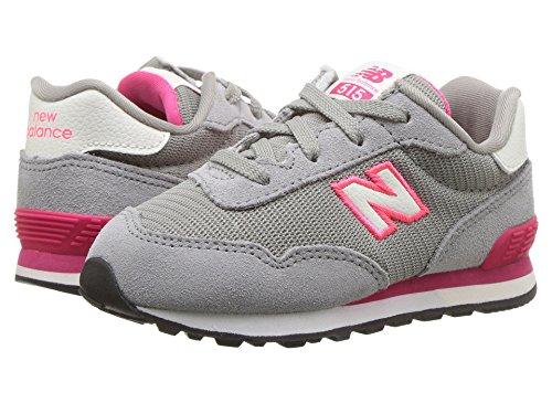 [new balance(ニューバランス)] メンズランニングシューズ?スニーカー?靴 KL515v1I (Infant/Toddler) Grey/Pink Zing 8 Toddler (15cm) W