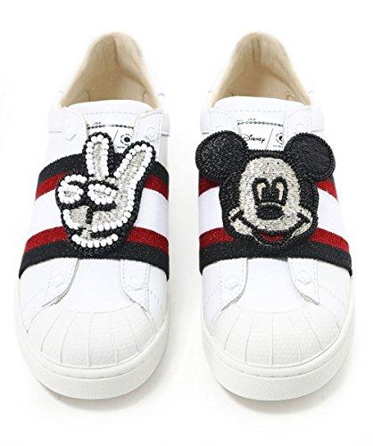 Bianco Signore Di Master Of Arts Ladies Disney Mickey Patch
