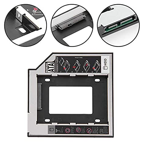 Elegantamazing - Adaptador de Disco Duro SSD SATA de 9,5/12,7 mm ...