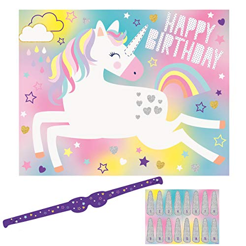 Unicorn Birthday Party Game for 16 Players, 1 Ct.