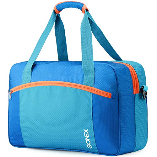 Gonex Wet Dry Separated Bag, Wet Separating Bag for Swimming Equipment, Swimsuit, Clothes, Large Size Blue
