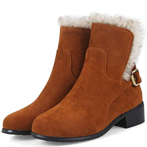 Correa Calzado Snow Amarilla Mujer Botines RAZAMAZA Invierno Zapatos Hebilla qwOHnPf
