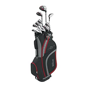 Wilson Men's Profile XLS Complete Package Golf Set, Right Hand, Red