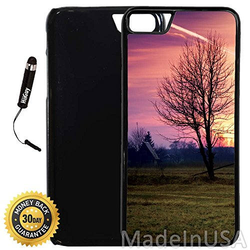 Custom iPhone 7 Case (A2338) Edge-to-Edge Plastic Black Cover with Shock and Scratch Protection | Lightweight, Ultra-Slim | Includes Stylus Pen by INNOSUB