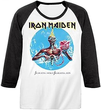 Iron Maiden - Camiseta de manga larga - Seventh Son: Amazon ...