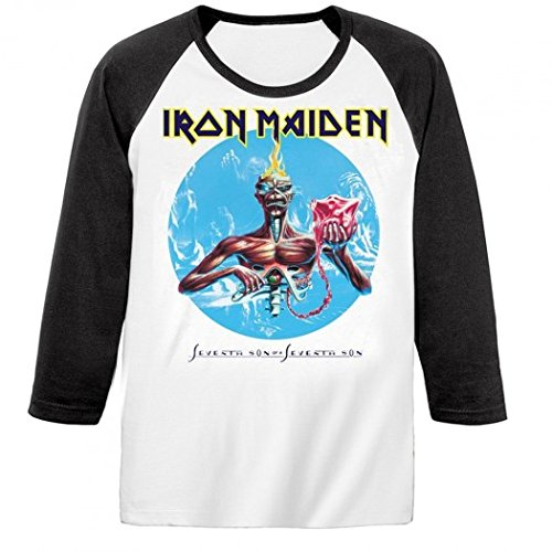 Iron Maiden - Camiseta de manga larga - Seventh Son: Amazon.es: Ropa y accesorios