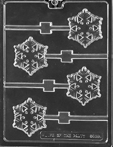 Snowflake Mint Molds - Frozen Snowflake Lollipop Chocolate Mold - C468