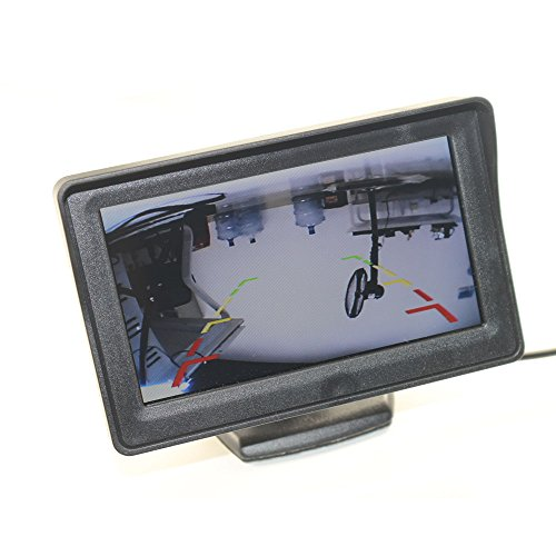 4.3'' High Resolution Car Color TFT LCD Camera Monitor 2 Video Input New Screen by Movka (Image #3)