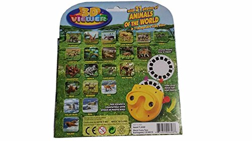 21 Animals of the world 3D Viewer, View master, 3 interchangeable discs by View Magic (Image #1)