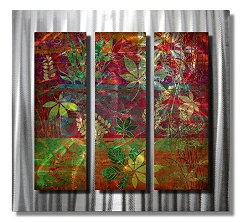 All My Walls north woods leaves metal wall art modern  decor