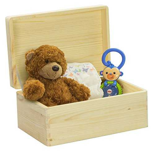 LAUBLUST Engraved Wooden Memory Box - Size L, 12x8x6in - ❤️ Personalized ❤️ Baby Keepsake Box - Jungle Design | Natural Wood - Made in Germany by LAUBLUST (Image #1)