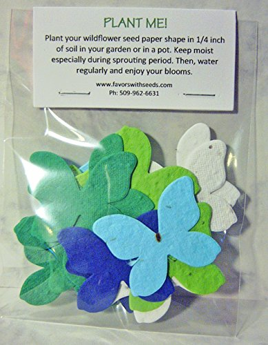 Tender Seed Company Bag of 24 Plantable Earth Day Butterflies