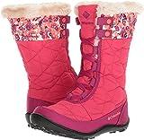 Columbia Girls' Youth Minx Mid II Waterproof Omni-Heat Snow Boot, Punch Pink, Orange, 2 M US Little Kid