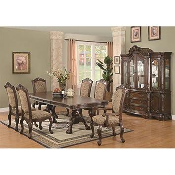 Amazon.com: Andrea doble Pedestal mesa de comedor silla de ...