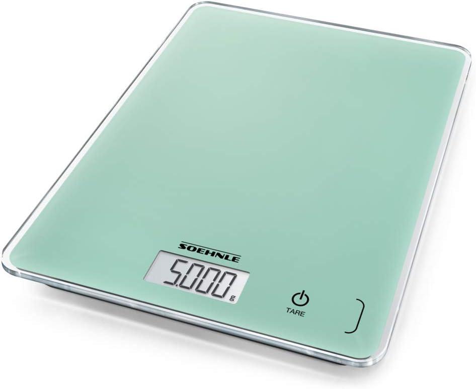 Soehnle Page Compact 300 Báscula de Cocina Digital, Verde