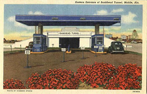 Eastern Entrance Of Bankhead Tunnel Mobile, Alabama Original Vintage Postcard (Tunnel Mobile Bankhead)