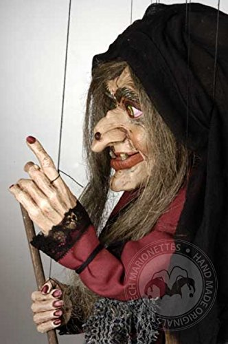 Large Witch Handmade Puppet by Czech Marionettes