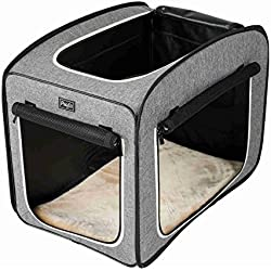 """Petsfit Portable Pop Open Cat Kennel,Cat Cage,Dog Kennel,Cat Play Cube,Lightweight Pet Kennel 31"""" Lx20 Wx25 H"""