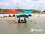 Otentik Beach SunShade - With Sandbag Anchors - The Original Sunshade since 2010 (Peach, Small 4.5 x 6.5 ft and 4.75 ft Tall/Up to 2 people)