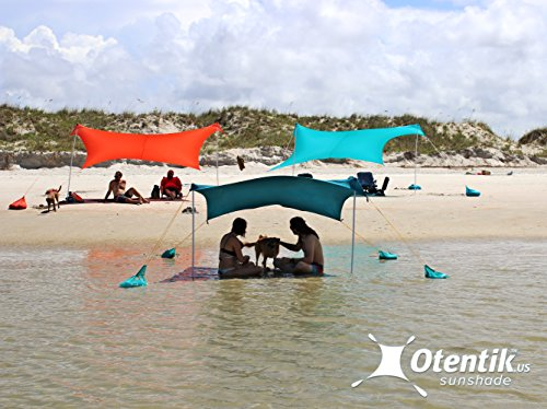 Otentik Beach Sunshade – with Sandbag Anchors – The Original Sunshade Since 2011