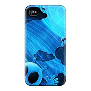 Tpu Shockproof/dirt-proof Byebye Et Cover Case For Iphone(4/4s)