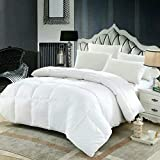Extra Large King Size Comforter Sets King Sized Comforter By DOZZZ: White Quilted Duvet Insert, Soft And Warm Polyester, Hypoallergenic Comforter For The Whole Family, Box Stitched With Plush Siliconized Fiberfill