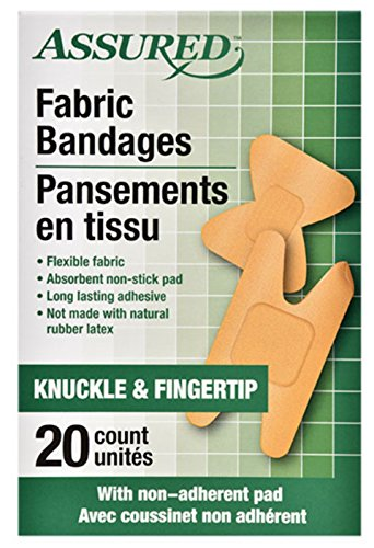20 Count (1 Box) Knuckle and Fingertip Fabric Bandages -