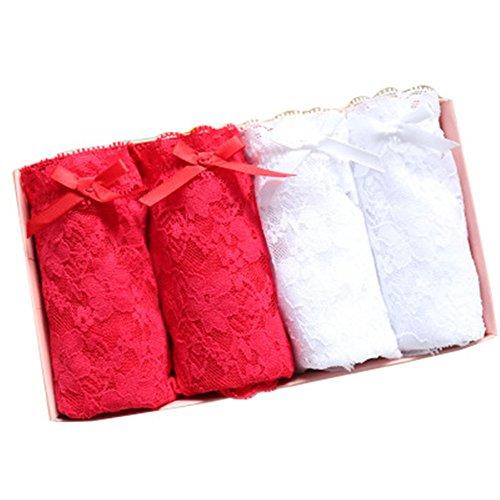 くさび時間優先権パンツショーツ レディース 薄いメッシュ透明セクシー レース 蝶結び しまパン 5枚セット縞 ボーダーパンツ コスチューム用小物 下着 パンティ 箱入り