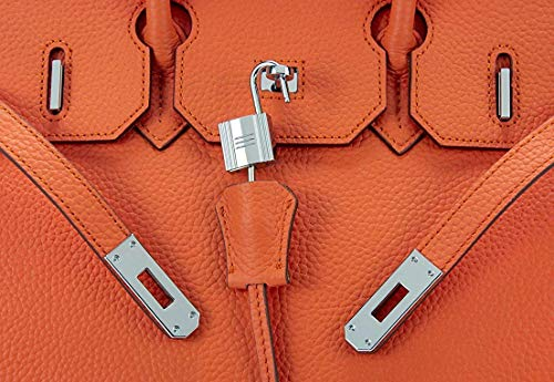 Women's Handbags Ladies Genuine Leather Handle Shoulder Handbags Strap Organizer Crossbody Handbags with Gold Hardware by GAOAG (Image #6)