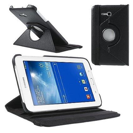 jbTec® Tablet-Hülle/Tasche zu Samsung Galaxy Tab 3 Lite 7.0 / SM-T111 / SM-T116 WiFi/SM-T110 / SM-T113-360° Schwarz - Case Sc