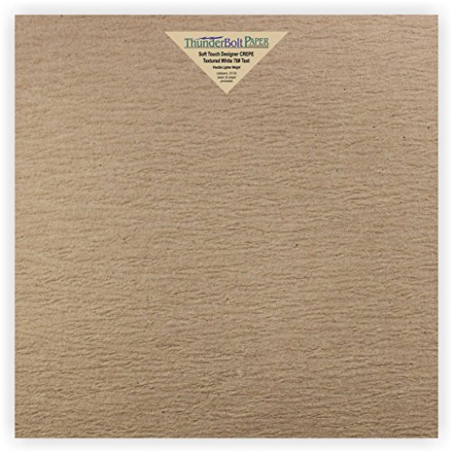 New Designer Scrapbook Album - 10 NEW Soft Touch Designer CREPE Brown Kraft Cover Paper 12 X 12 Inches, 80lb Thick Card Sheets - Impressive Texture - Scrapbook Album|Cover Size -Textured Premium Quality, Flexible - Blank Cardstock