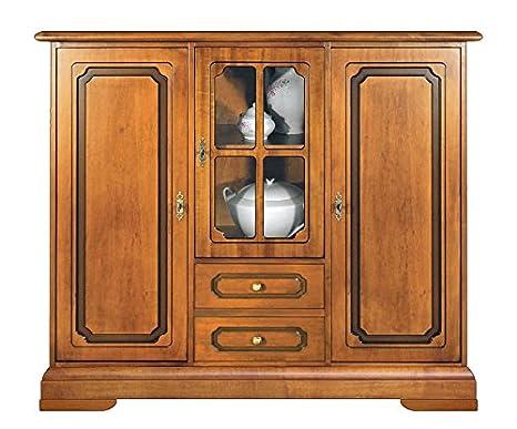 Credenza Alta Per Cucina : Credenza alta da cucina in legno colore ciliegio con anta a