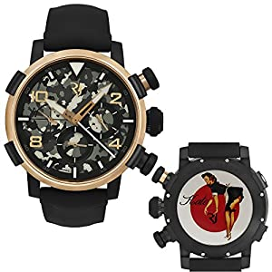 Romain Jerome Pinup DNA Red Gold WWII Kate Maid Chrono Auto RJ.P.CH.003.01