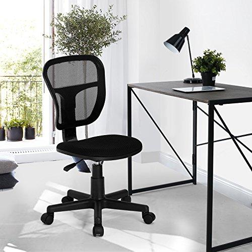 Homycasa Rolling Armless Task Chair Kids Study Desk Chair Fa