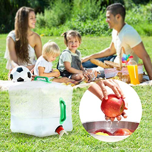 SUNDERPOWER 5 Gallon/20L Portable Water Carrier Bag,Collapsible Water Container, Emergency Water Bag for Camping/Hiking/Climbing/Backpacking