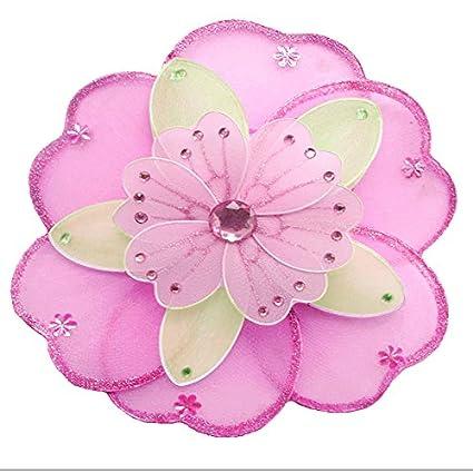 amazon com hanging flower small 6 dark pink fuchsia green pink