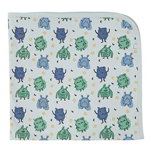 Finn + Emma Organic Cotton Swaddle Blanket for Baby Boy or Girl - Monsters, O/S
