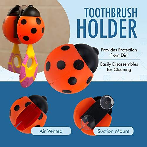 51%2BaYZ9VD L - 6 Pack - Baby Toothbrush, 0-2 Years, Soft Bristles, BPA Free | Toddler Toothbrush, Infant Toothbrush, Training Toothbrush, Includes Free Toothbrush Holder