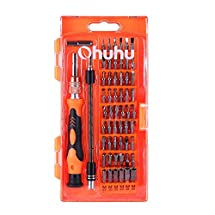 Ohuhu 58 in 1 Magnetic Precision Screwdriver Set, CR-V Steel Drive Kit with Adjustable Extension Shaft for Household, Cell Phone, Tablet, Camera, Macbook, Computer