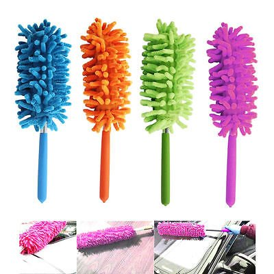 Telescoping Microfiber Duster Extendable Cleaning Dust Home Office Car Tool Random Color