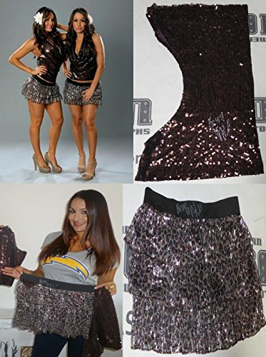 Nikki The Bella Twins 2x Signed WWE Ring Worn Used Skirt & Shirt Diva - PSA/DNA Certified - Autographed Wrestling Miscellaneous Items -
