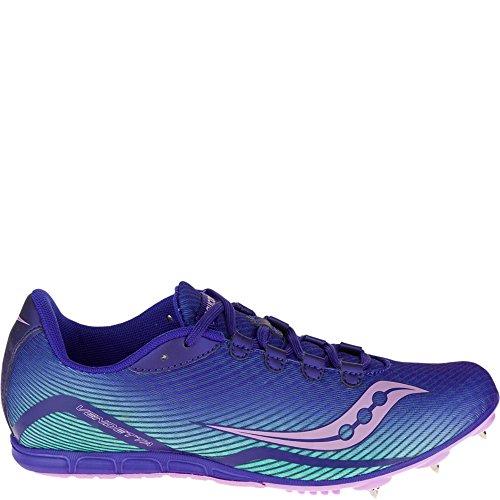 Saucony Women's Vendetta Spike Shoe, Blue/Teal/Pink, 10 M US (Wolverine Trail Runner)